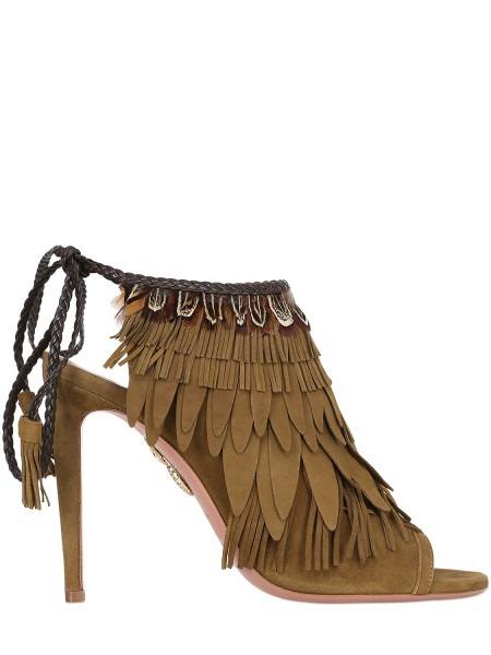 Aquazzura Wild Thing Leather Heels, Aquazzura 105mm Pocahontas