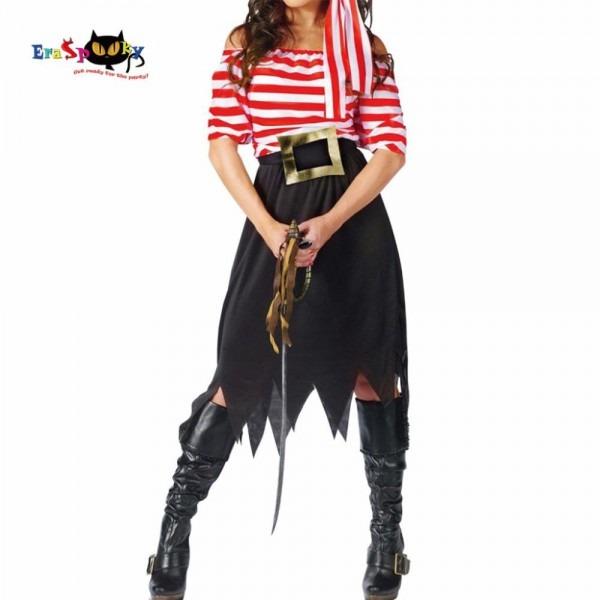 Women Pirate Costume Girl Crew Costume Halloween Costumes Pirate