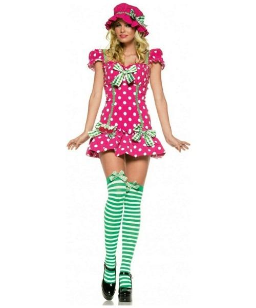 Adult Raspberry Girl Strawberry Fruit Costume