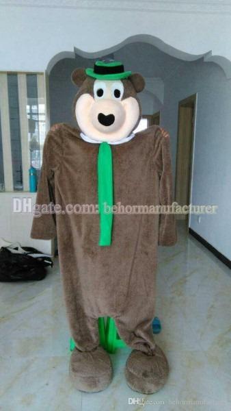Yogi Bear Clothing Selling Lovely High Quality Plush Brown Bear